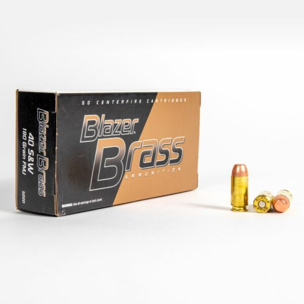 Blazer Brass 5220 40 SW 180 Grain FMJ Box Front