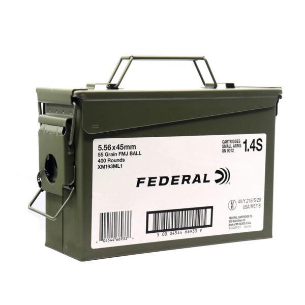 Federal 556x45mm 55gr M193 XM193ML1 400 Round Ammo Can