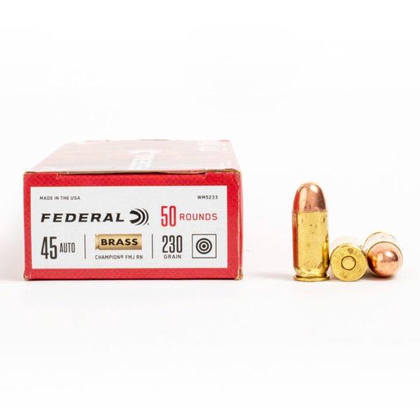 Federal WM5233 45 Auto 230 Grain FMJ Ammo Box Side