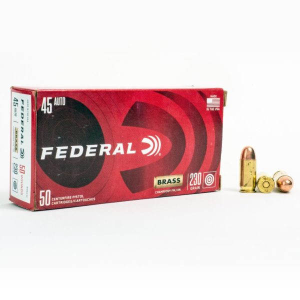 Federal WM5233 45 Auto 230 Grain FMJ Box Front