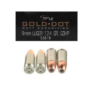 Speer Gold Dot 9mm 124gr JHP 53618