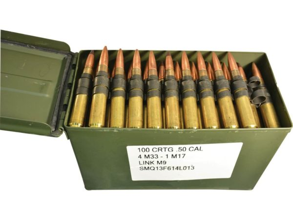 50 BMG - 4-1 - Linked - Ammo Can (XM33 XM17) - Federal - 100 Rounds