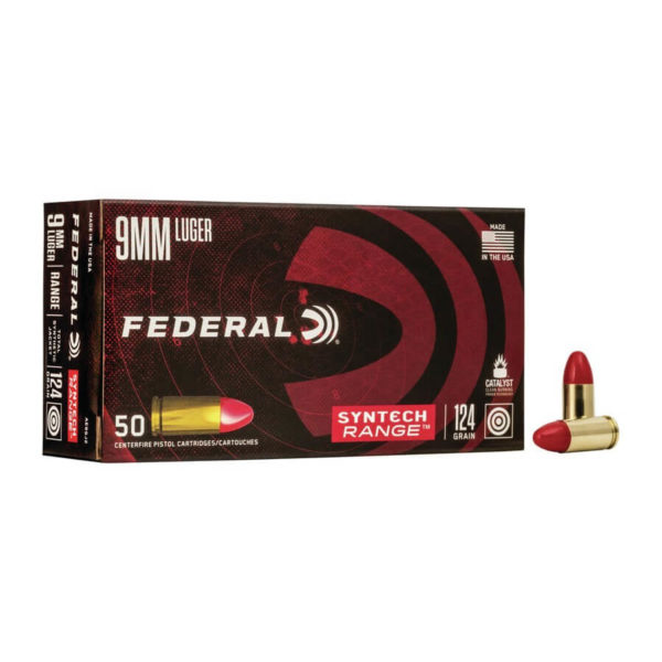 Federal Syntech 9mm 124 grain TSJ (AE9SJ2) Ammo in Bulk
