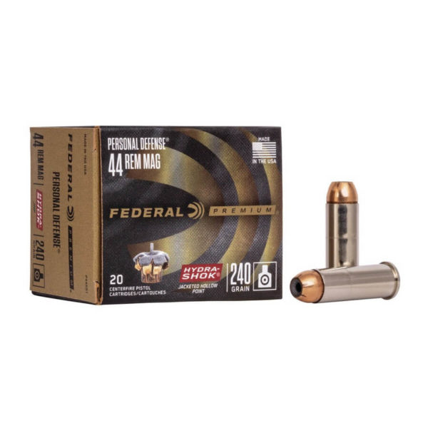 Federal Hydra-Shok 44 Mag Ammo For Sale - 240gr JHP - 500 Round