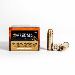 Federal P44HS1 44 Mag 240 Grain JHP Ammo Box Side