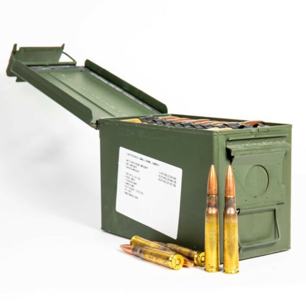 Federal XM33 XM17 50 BMG 690 Grain 4-1 Linked - Ammo Can Front Open Top with Rounds