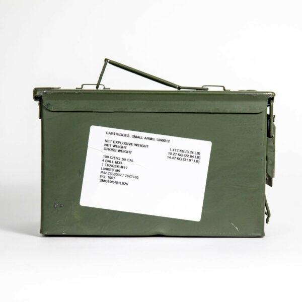 Federal XM33 XM17 50 BMG 690 Grain 4-1 Linked - Ammo Can Side