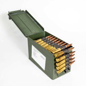 Federal XM33 XM17 50 BMG 690 Grain 4-1 Linked - Ammo Can Top with Linked Rounds