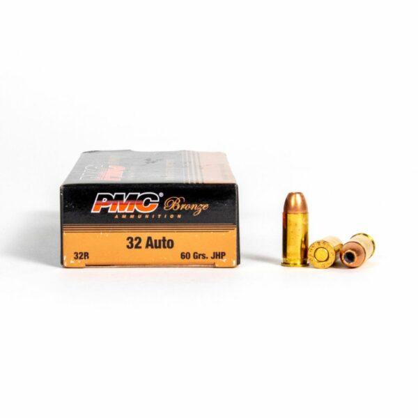 PMC 32B 32 Auto 60 Grain JHP Ammo Box Side