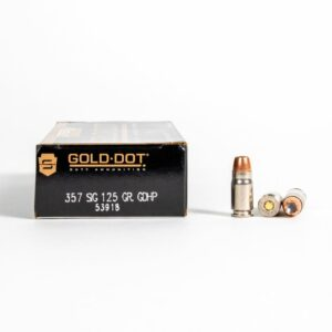 Speer Gold Dot 53918 357 SIG 125 Grain GDHP Ammo Box Side
