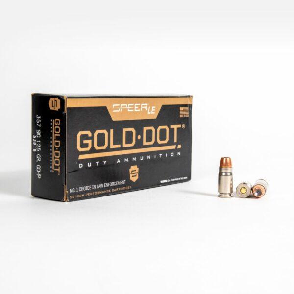 Speer Gold Dot 53918 357 SIG 125 Grain GDHP Box Front
