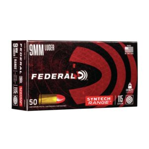 9mm 115gr TSJ Federal Syntech (AE9SJ1) Ammo For Sale - 500 Rounds