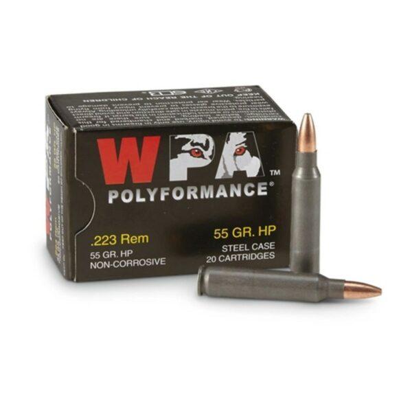 Bulk 223 Rem Ammo - 55 grain Hollow Point - Wolf Polyformance 22355HP - 1000 Rounds