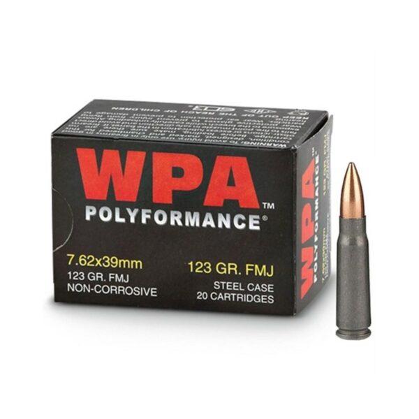 Bulk 7.62x39 Ammo - 123 grain FMJ Wolf Polyformance 1000 Rounds