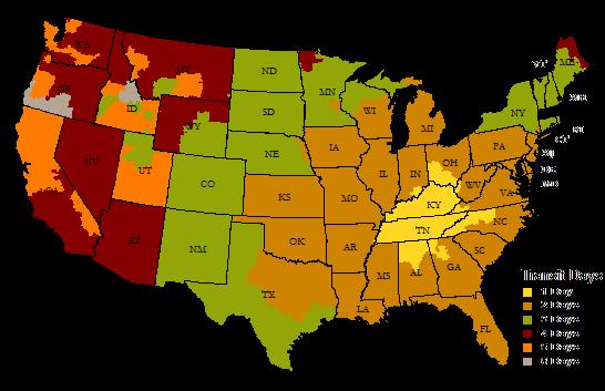 UPS Ground Delivery Map - BulkMunitions - NOV20