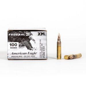 Federal American Eagle AE223BLX 223 Remington 55 Grain FMJ Ammo Box Side